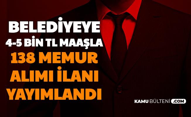 Samsun Belediyesine 4-5 Bin TL Maaşla 138 Memur Alımı Yapılacak-KPSS Puanı ile