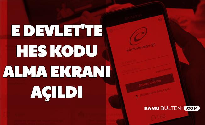 Seyahat Edecekler Dikkat: E-Devlet Kapısından HES Kodu Alma Ekranı Açıldı