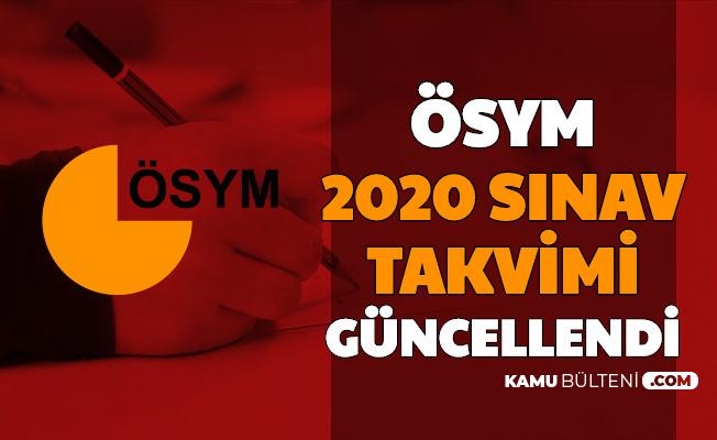 Son Dakika: ÖSYM 2020 Sınav Takvimi Güncellendi (KPSS, DGS, YKS, YÖKDİL, ALES, MSÜ Tarihleri)