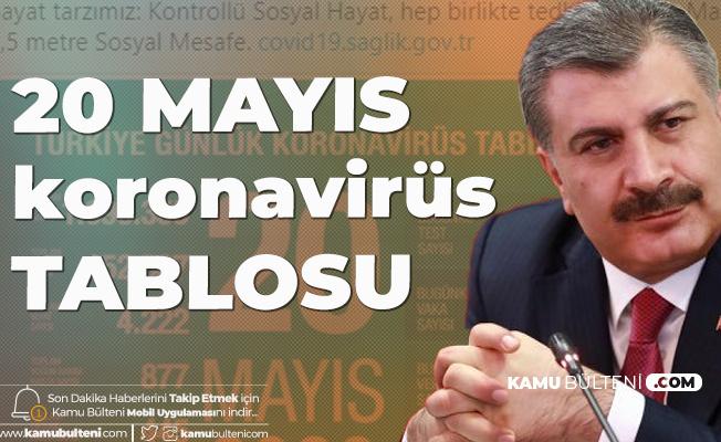 Son Dakika: Sağlık Bakanı Fahrettin Koca 20 Mayıs Koronavirüs Güncel Tablosunu Yayımladı