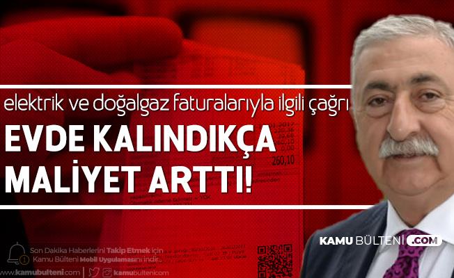 """TESK Başkanı Palandöken'den Çağrı! """"Elektrik ve Doğalgaz Faturalarında İndirim Yapılmalı"""""""