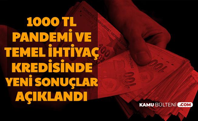 1000 TL Pandemi ve Halk-Vakıf-Ziraat Bankası 10 Bin TL Temel İhtiyaç Kredisinde Yeni Sonuçlar Açıklandı