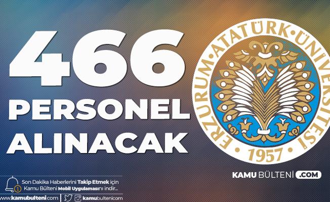 466 Sözleşmeli Kamu Personeli Alımı için Atatürk Üniversitesi'ne Başvurular Sürüyor