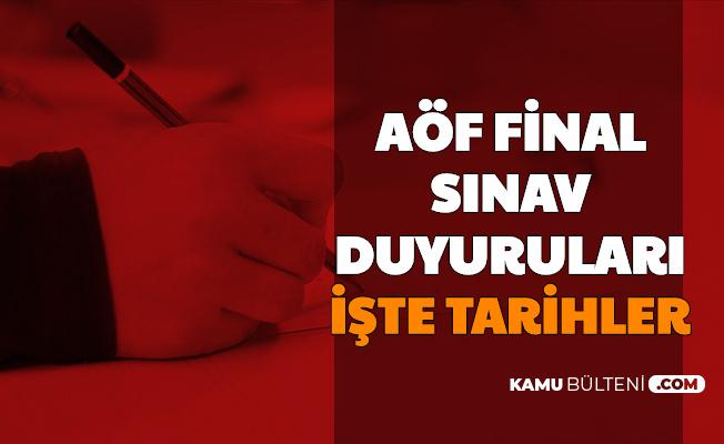 AÖF Finali Duyuruları Yayımlandı-İşte AUZEF, Atatürk ve Anadolu Üniversitesi Sınav Tarihleri