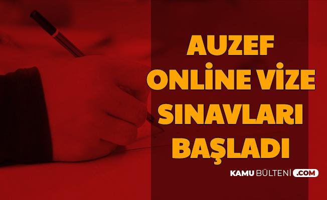 AUZEF Online Vize Sınavı Başladı-İşte Sınav Giriş Sistemi