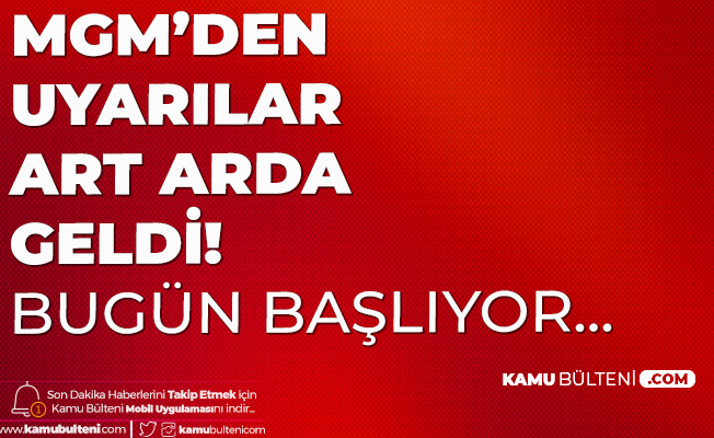 Bu İllerde Yaşayanlar Dikkat: 5 Gün Sürecek (İstanbul , Ankara, Edirne , Eskişehir , Bursa Hava Durumu)