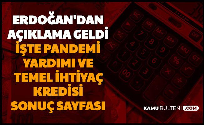 Erdoğan Açıklamıştı: İşte 1000 TL Pandemi Yardımı ve Temel İhtiyaç Kredisi Başvuru Sonuçları