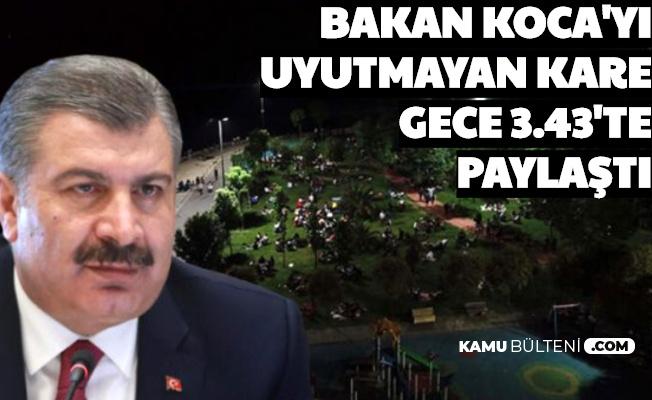 Fahrettin Koca'yı Uyutmayan Kare: Gece 3.43'te Paylaştı
