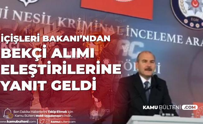 İçişleri Bakanı Süleyman Soylu'dan Bekçi Açıklaması: Bekçi Alımlarının Ardından Suç Oranlarında Büyük Düşüş Görüldü