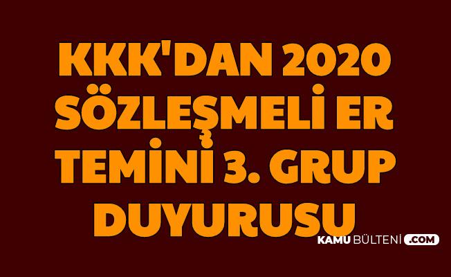 KKK Sözleşmeli Er Temini 3. Grup Duyurusu PERTEM'de Yayımlandı