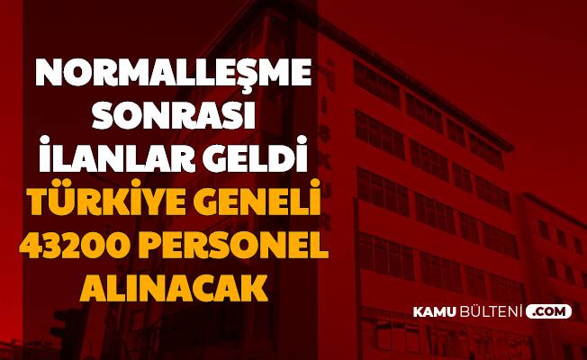 Normalleşme Sonrası Duyuru Geldi: Türkiye Geneli 43200 Personel Alımı İŞKUR'da Başladı