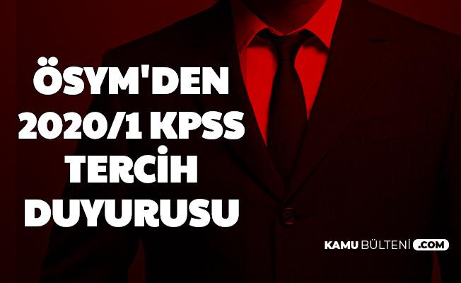 ÖSYM'den KPSS 2020/1 Tercihleri ile Memur Ataması Tarihi Duyurusu