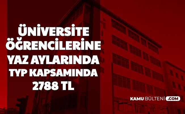 Üniversite Öğrencilerine İŞKUR TYP Kapsamında 3 Ayda 2788 TL Verilecek-2020 İlanları Bekleniyor