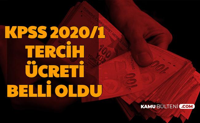2020/1 KPSS Tercih Ücreti Belli Oldu