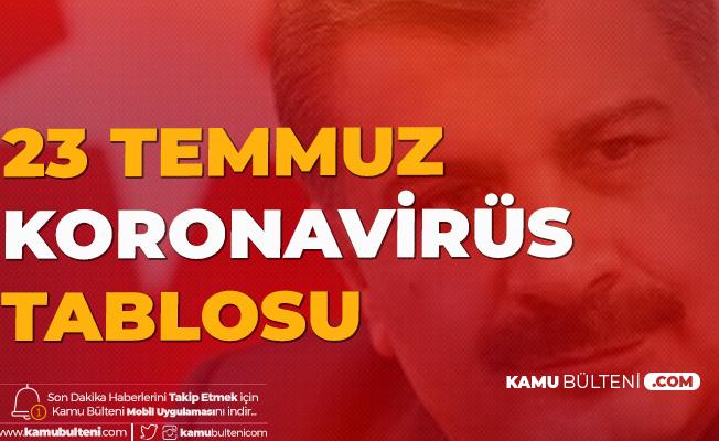 23 Temmuz Türkiye Koronavirüs Güncel Tablosu Yayımlandı (19, 20, 21,22, 23 Temmuz Tarihli Koronavirüs Tabloları)