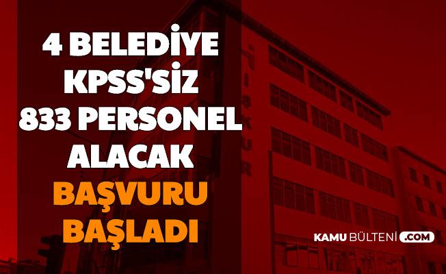 Belediyede Çalışmak İsteyenler Dikkat: KPSS'siz 833 Personel Alımı Başladı 3 Bin TL Maaş (İstanbul-Ankara-Mersin-Ümraniye)