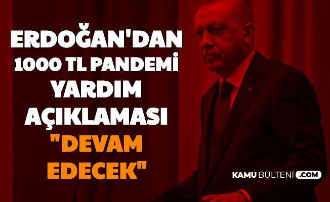 """Erdoğan'dan 1000 TL Pandemi Yardımı Açıklaması: """"Devam Edecek"""" İşte Başvuru ve Sonuç Sayfası"""