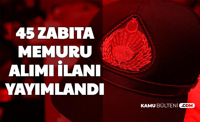 Gebze Belediyesi 45 Zabıta Memuru Alımı Yapacak