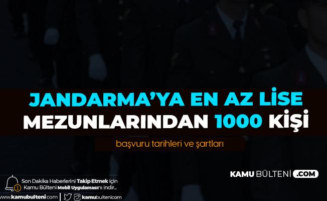 Jandarma'ya En Az Lise Mezunlarından Astsubay Adayı Öğrenci Alımı Başvuruları Sürüyor