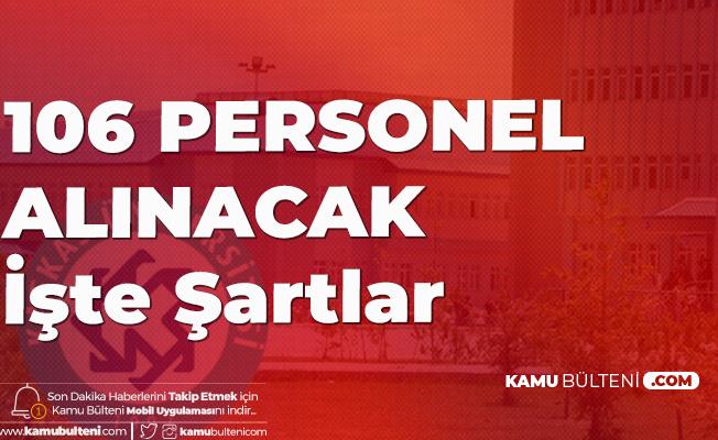 Kafkas Üniversitesi'ne Sözleşmeli Sağlık Personeli Alımı için Başvuru Genel ve Özel Şartları