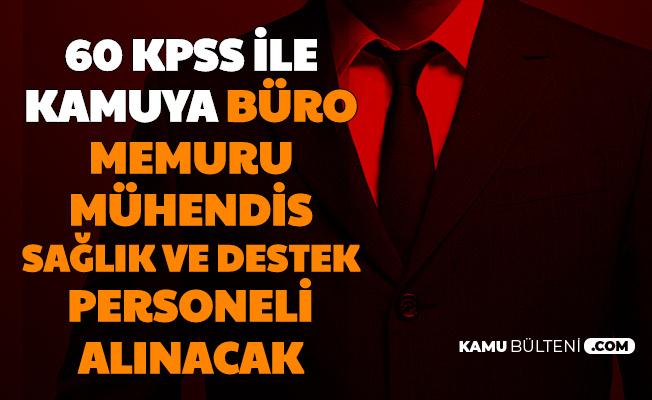 Kamuya 60 KPSS ile Büro Memuru, Mühendis, Destek ve Sağlık Personeli Alımı (İzmir Bakırçay Üniversitesi)