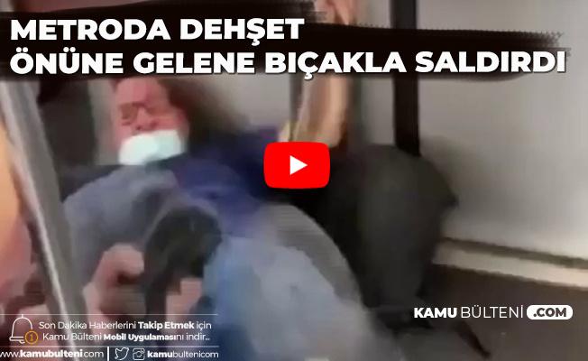 Metroya Binip Rastgele Yolcuları Bıçakladı!