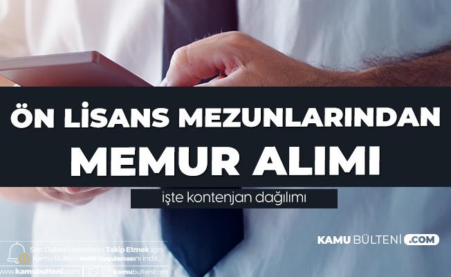 Önlisans Mezunlarından KPSS 2020/1 ile Memur Alımı Yapılacak (Arff Memuru, Memur, Tekniker, Şoför, Muhasebeci, Anber Memuru ve Daha Fazlası)