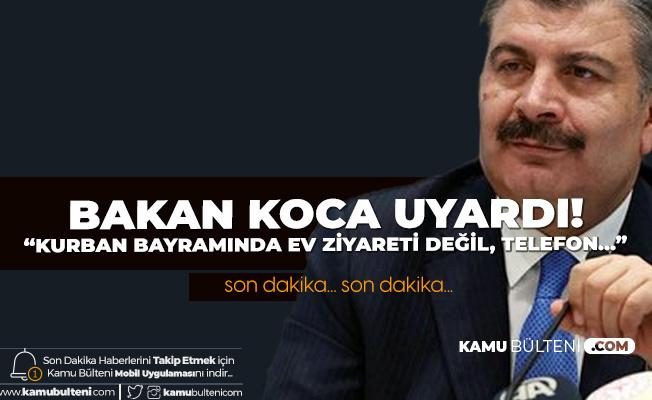 Sağlık Bakanı Fahrettin Koca'dan Son Dakika Açıklamaları (Kurban Bayramı, Okulların Açılış Tarihi, Aşı Çalışmaları, İkinci Dalga ve Diğer Detaylar)