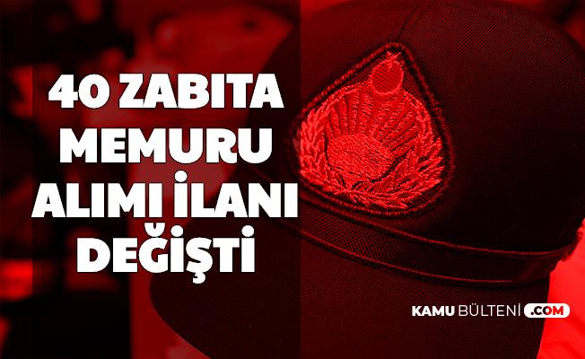 Şahinbey Belediyesi Zabıta Memuru Alımı İlanı Değişti
