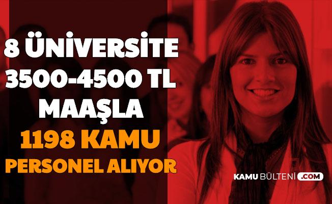 Üniversitelere Mülakatsız 1198 Personel Alımı Yapılıyor-3500-4500 TL Maaşla