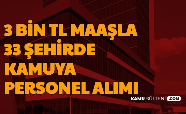 33 Şehirde 3-4 Bin TL Maaşla Kamuya Personel ve İşçi Alımı Başladı