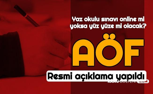 Anadolu Üniversitesi'nden AÖF Yaz Okulu Sınav Duyurusu