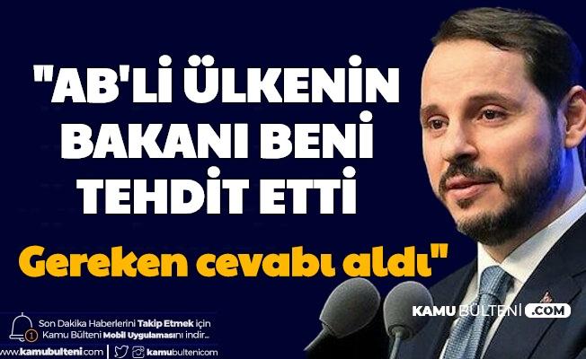 """Berat Albayrak: """"Tehdit Edildim, Gereken Cevap Verildi"""""""
