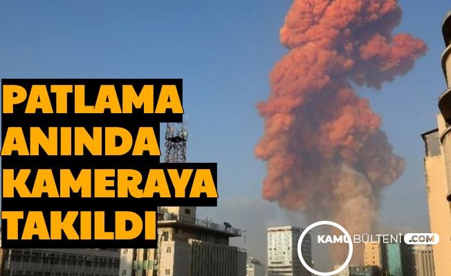Beyrut'taki Patlamada Kameraya Takılan Cisim