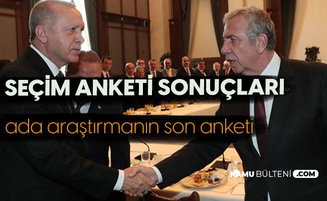 Cumhurbaşkanlığı Seçim Anketi Yayımlandı! İşte Ankete Göre Erdoğan, Mansur Yavaş, İmamoğlu ve Akşener'in Oy Oranları