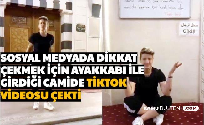 Dikkat Çekmek İçin Ayakkabı ile Girdikleri Camide TikTok Videosu Çektiler