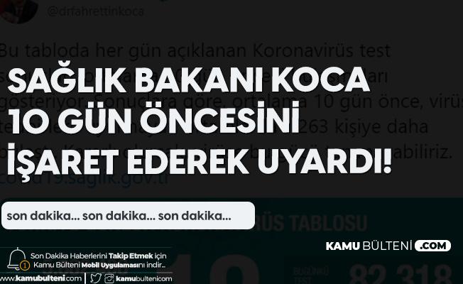 Sağlık Bakanı Fahrettin Koca'dan Vaka Sayısı Uyarısı: 10 Gün Önce...
