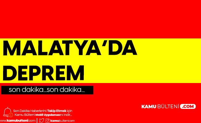 Son Dakika: Malatya'da 5.2 Büyüklüğünde Deprem Meydana Geldi