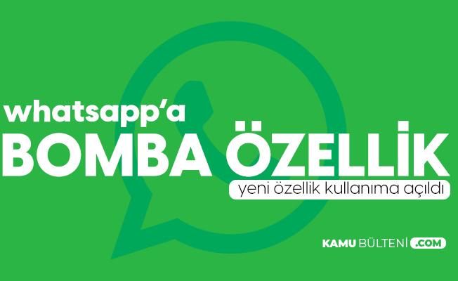 Whatsapp'a Bir Bomba Özellik Daha!