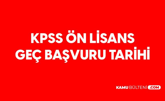 2020 KPSS Önlisans Sınav Tarihi ve Sınav Geç Başvuru Tarihi