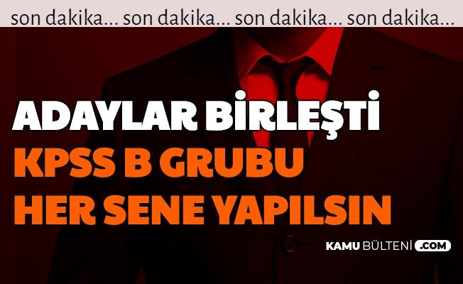 """Adaylar Birleşti: """"KPSS B Grubu Her Sene Yapılsın"""""""