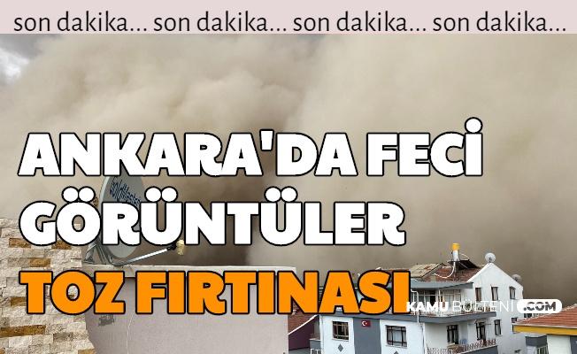 Son Dakika Haberi... Ankara Polatlı'dan Feci Görüntüler Geldi: Kum-Toz Fırtınası Oldu