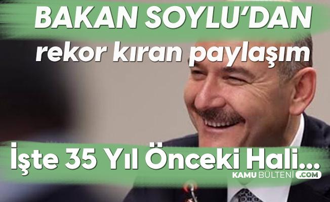 İçişleri Bakanı Süleyman Soylu 35 Yıl Önceki Halini Paylaştı!