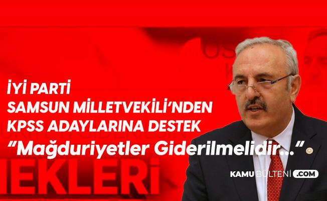 İYİ Parti Samsun Milletvekili Bedri Yaşar'dan KPSS Çıkışı: Mağduriyet Giderilmeli