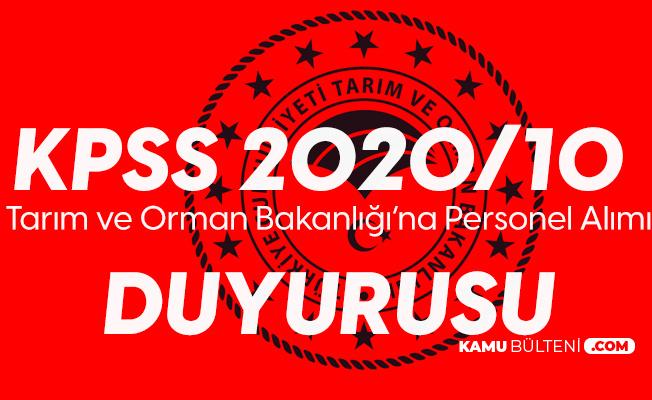 KPSS 2020/10 Duyurusu Yayımlandı! Tarım ve Orman Bakanlığı Yerleştirme Sonuçları Belli Oldu