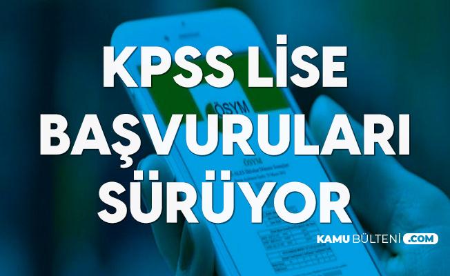 KPSS Lise Başvuruları Sürüyor (KPSS Ortaöğretim Başvuru ve Sınav Tarihleri)