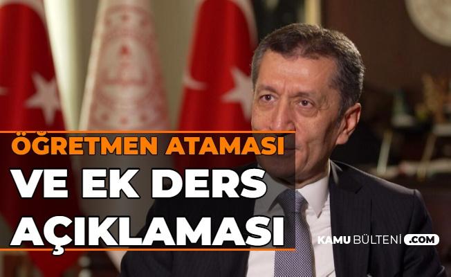 Ziya Selçuk'tan Öğretmen Atama ve Ek Ders Ödemesi Açıklaması