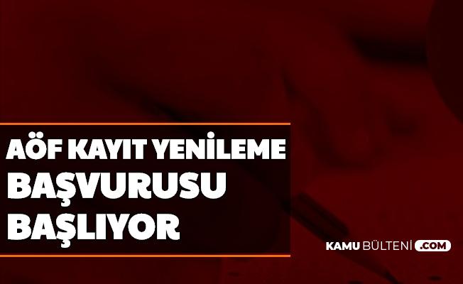 Anadolu Üniversitesi AÖF Kayıt Yenileme Başvurusu Başlıyor-İşte Ücretin Yatırılacağı Banka
