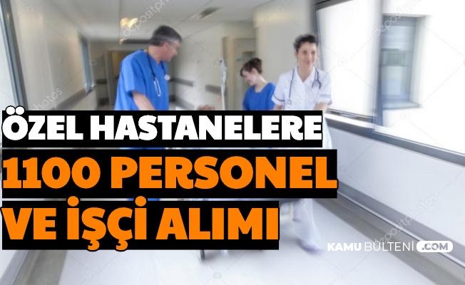 Hastanelere 1100 Sağlık Personeli ve İşçi Alımı Başvurusu Başladı