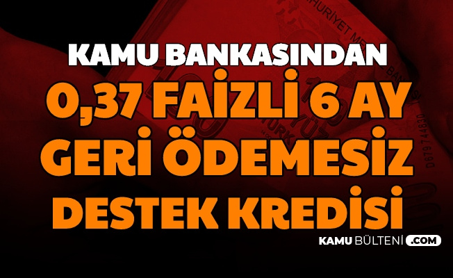 Kamu Bankası Halkbank'tan 6 Ay Geri Ödemesiz 0.37 Faizli 25 Bin TL Kredi İşte Başvurusu